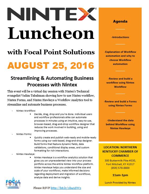 Nintex Luncheon Flyer